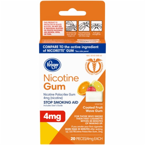 Kroger® Coated Fruit Wave Nicotine Gum 4mg Perspective: front
