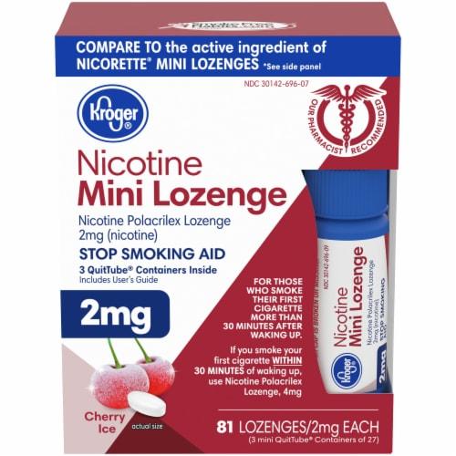 Kroger® Cherry Ice Nicotine Mini Lozenges 2mg Perspective: front