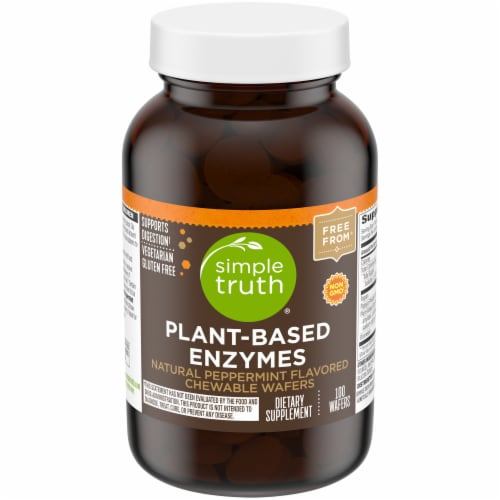 Simple Truth™ Natural Peppermint Flavored Plant-Based Enzymes Chewable Wafers Perspective: front