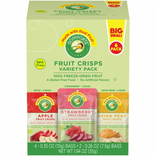 Comforts™ Fruit Crisps Variety Pack Perspective: front