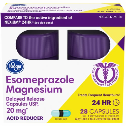 Kroger® Esomeprazole Magnesium Capsules Twin Pack 20mg Perspective: front