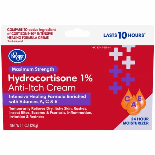 Kroger® Maximum Strength Hydrocortisone Anti-Itch Cream Perspective: front