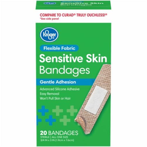 Kroger® Flexible Fabric Sensitive Skin Bandages Perspective: front