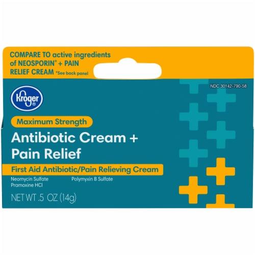 Kroger® Maximum Strength Antibiotic & Pain Relief Cream Perspective: front
