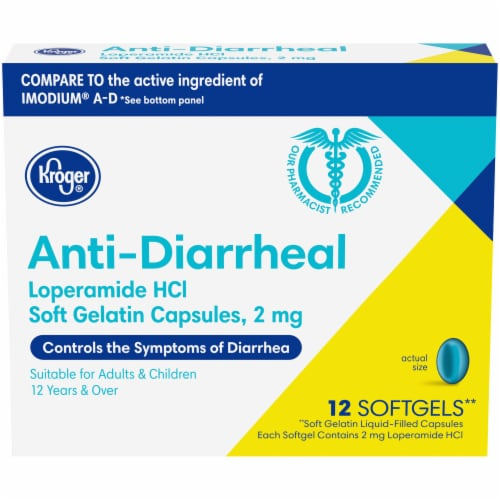 Kroger® Anti-Diarrheal Softgels 2mg Perspective: front