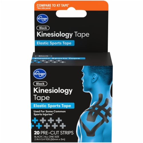 Kroger® Black Kinesiology Tape Box Perspective: front