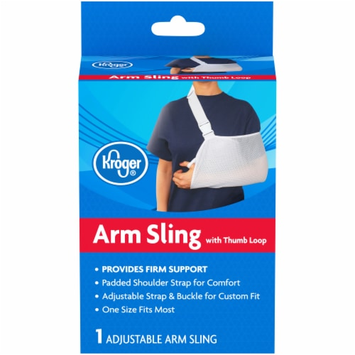 Kroger® Adjustable Arm Sling With Thumb Loop Box Perspective: front