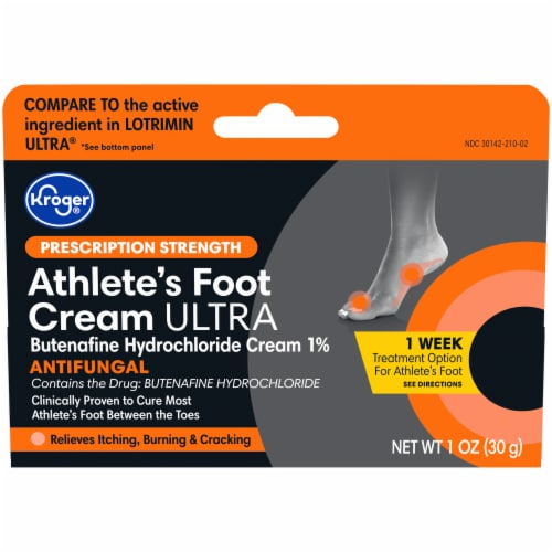Kroger® Prescription Strength Ultimate Althlete's Foot Antifungal Cream Perspective: front