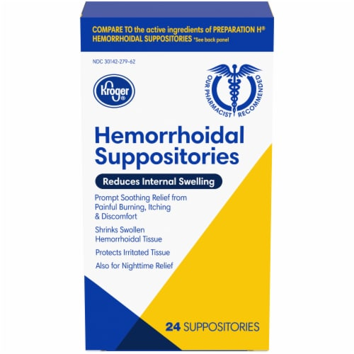 Kroger® Hemorrhoidal Suppositories Perspective: front