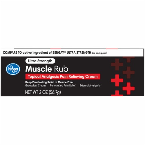 Kroger® Ultra Strength Muscle Rub Pain Relieving Cream Perspective: front