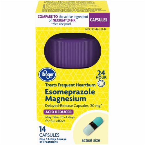 Kroger® Esomeprazole Magnesium Delayed-Release Capsules 20mg Perspective: front