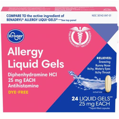 Kroger® Allergy Antihistamine Liquid Gels Perspective: front