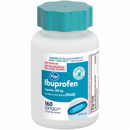 Kroger® Ibuprofen Softgel Capsules 200mg Perspective: front