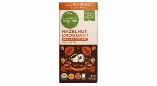 Simple Truth Organic™ Dark Chocolate Hazelnut Croquant Bar Perspective: front