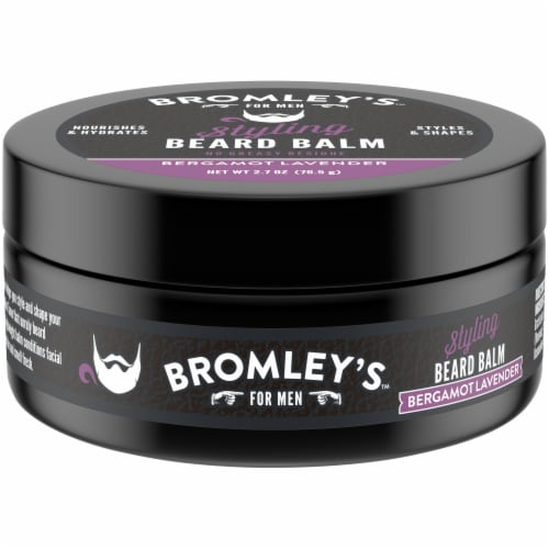 Bromley's™ For Men Bergamot Lavender Styling Beard Balm Perspective: front