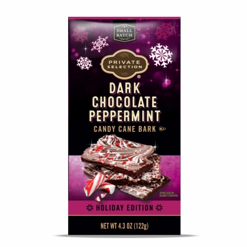 Private Selection™ Dark Chocolate Peppermint Candy Cane Bark Perspective: front