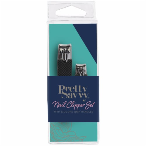 Pretty Savvy Nail Clipper Set with Grip Handle Perspective: front