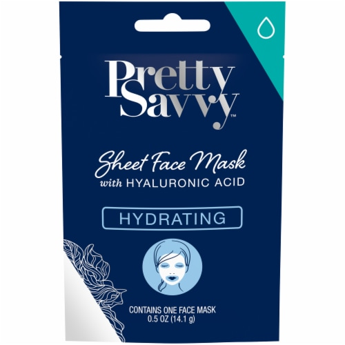Pretty Savvy Hydrating Sheet Face Mask with Hyaluronic Acid Perspective: front