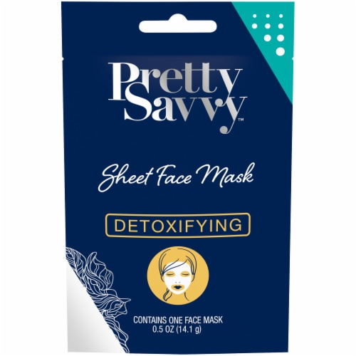 Pretty Savvy Detoxifying Sheet Face Mask Perspective: front