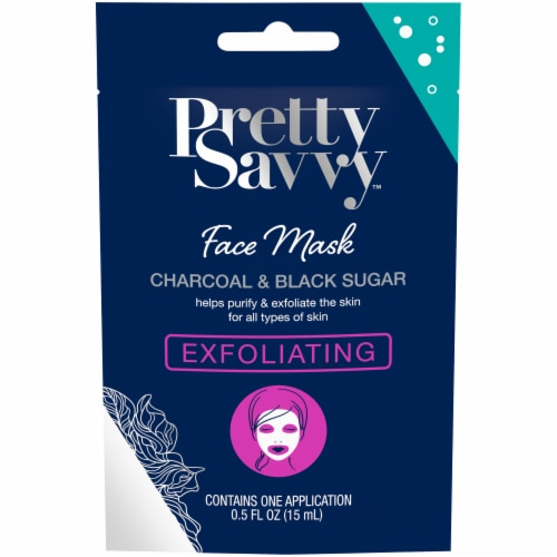 Pretty Savvy Exfoliating Charcoal & Black Sugar Face Mask Perspective: front