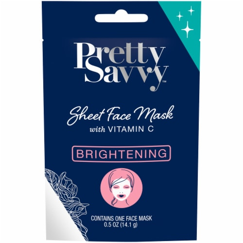 Pretty Savvy Brightening Sheet Face Mask with Vitamin C Perspective: front