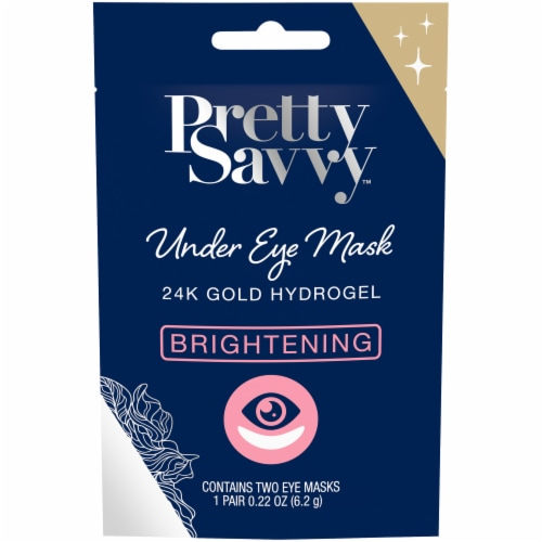 Pretty Savvy 24K Gold Hydrogel Brightening Under Eye Masks Perspective: front