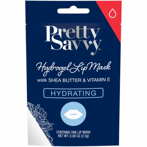 Pretty Savvy™ Hydrating Hydrogel Lip Mask with Shea Butter & Vitamin E Perspective: front