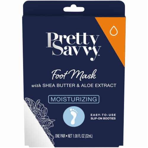 Pretty Savvy Moisturizing Foot Mask with Shea Butter & Aloe Extract Perspective: front