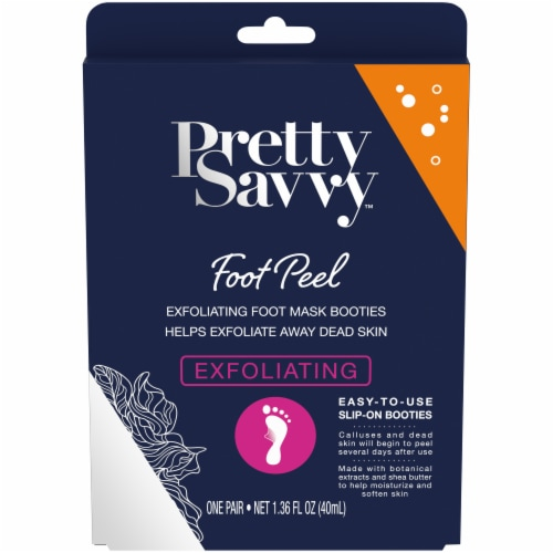 Pretty Savvy™ Exfoliating Foot Peel Mask Perspective: front