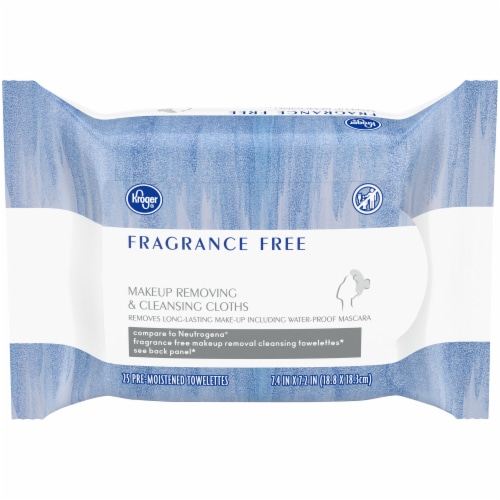 Kroger® Fragrance Free Makeup Removing & Cleansing Cloths Perspective: front