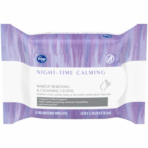 Kroger® Night-Time Calming Makeup Removing & Cleansing Cloths Perspective: front