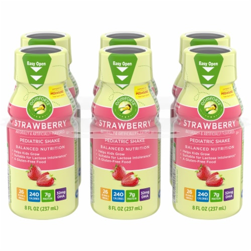 Comforts™ Strawberry Pediatric Shake Perspective: front