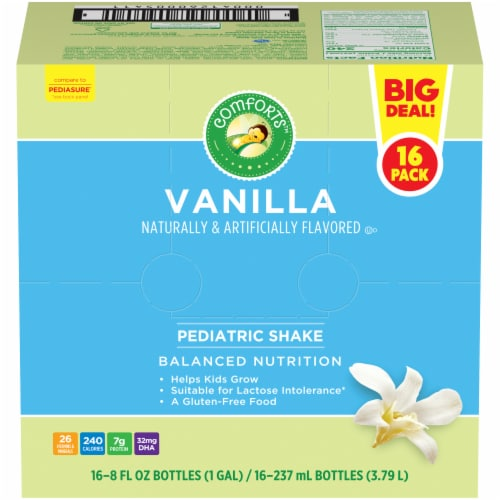 Comforts™ Vanilla Pediatric Nutrition Shakes Perspective: front
