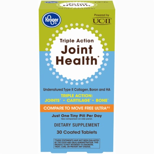 Kroger® Triple Action Joint Health Coated Tablets Perspective: front