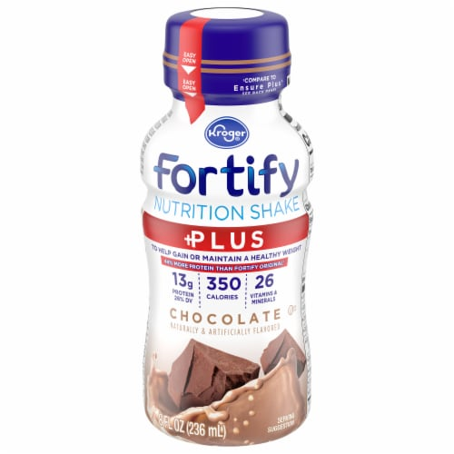 Kroger® Fortify Plus Chocolate Nutrition Shake Perspective: front