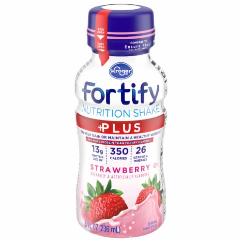Kroger® Fortify Plus Strawberry Nutritional Shake Perspective: front