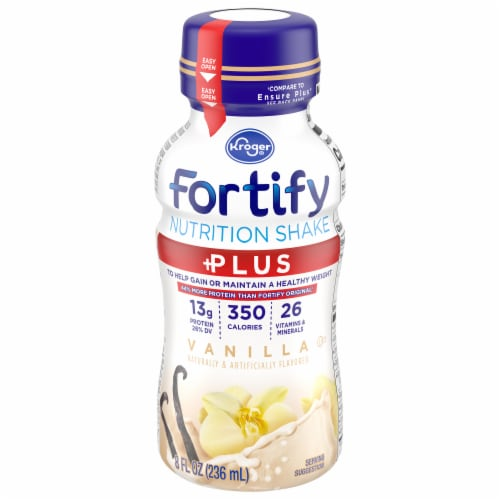 Kroger® Fortify Plus Vanilla Nutrition Shake Perspective: front