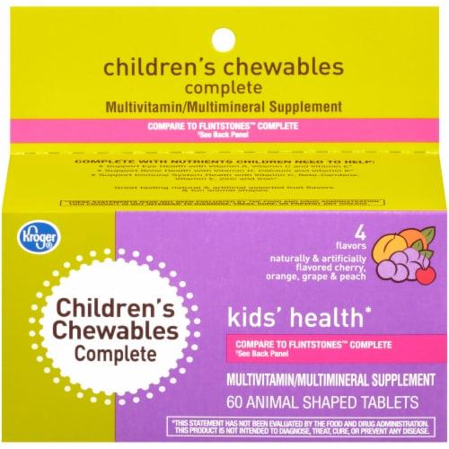 Kroger® Kids' Health Complete Animal Shaped Tablet Vitamins Perspective: front