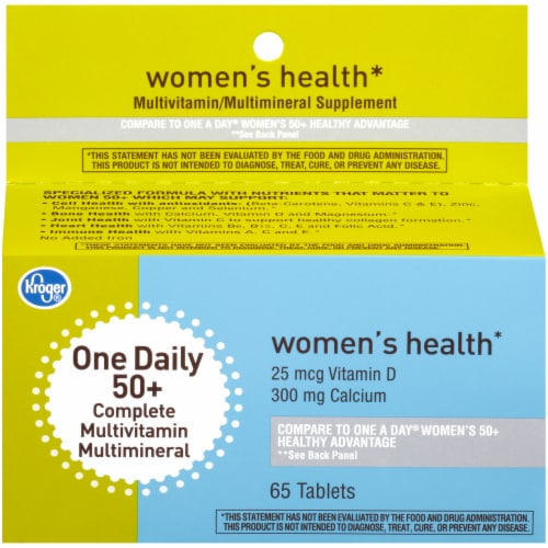 Kroger® Women's 50+ One Daily Complete Mutlivitamin Tablets Perspective: front