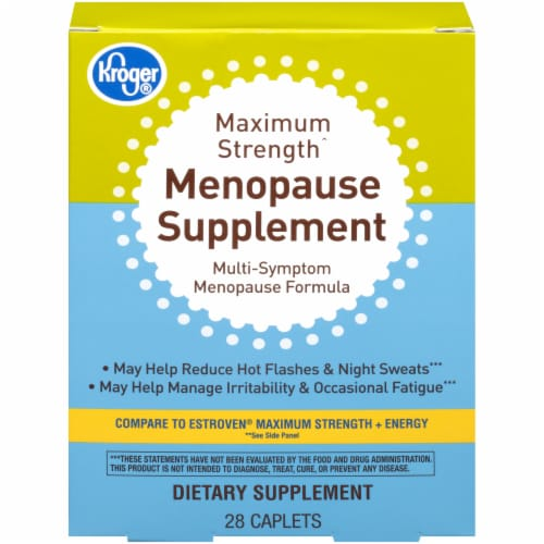 Kroger® Maximum Strength Menopause Supplement Caplets Perspective: front