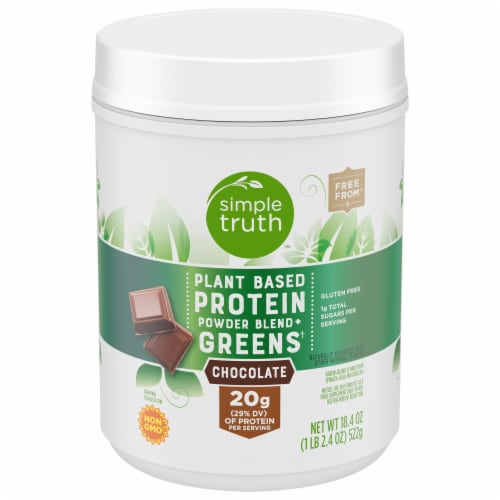 Simple Truth™ Plant-Based Chocolate Protein & Greens Perspective: front