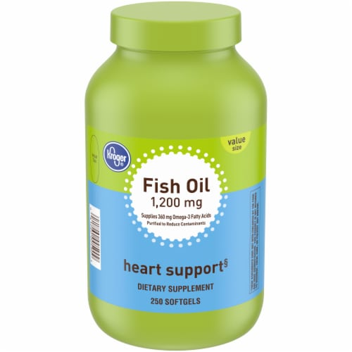 Kroger® Fish Oil Softgels 1200mg Perspective: front