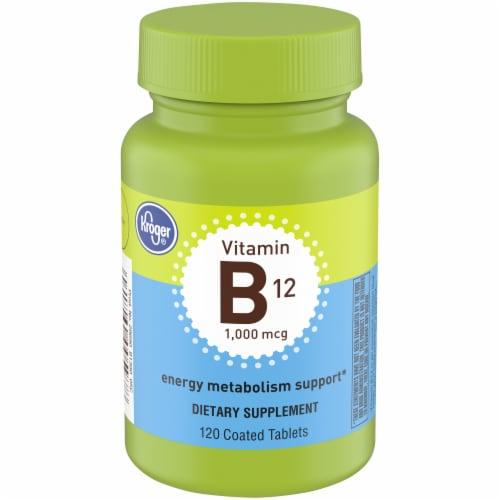 Kroger® Vitamin B12 Coated Tablets 1000mcg Perspective: front
