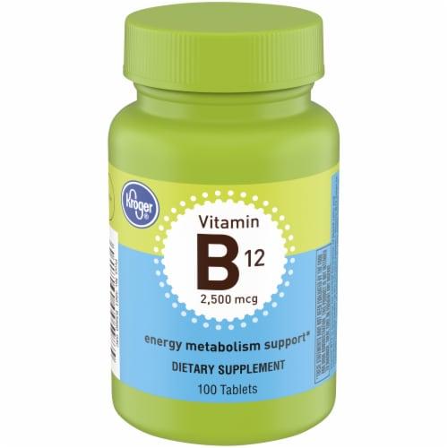 Kroger® Vitamin B12 Tablets 2500mcg Perspective: front