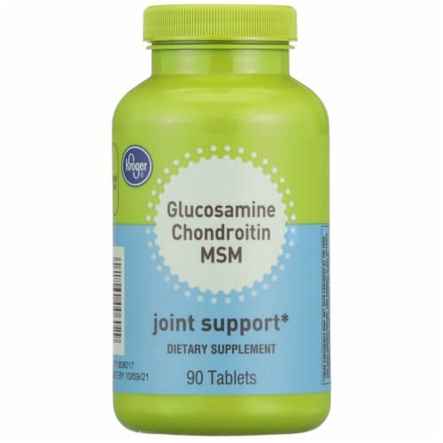 Kroger® Glucosamine Chondroitin MSM Joint Support Supplement Tablets Perspective: front