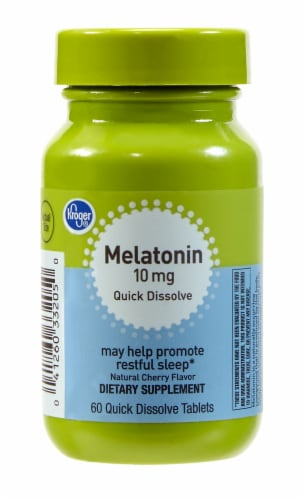Kroger® Melatonin Tablets 10mg Perspective: front