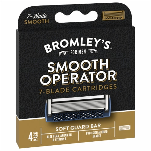 Bromleys™ For Men Smooth Operate 7-Blade Cartridges Perspective: front