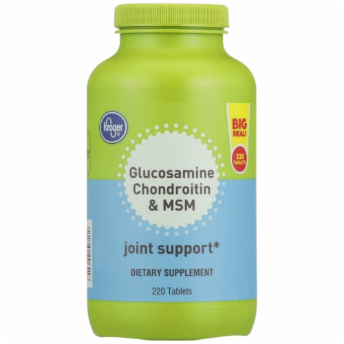 Kroger® Glucosamine Chondroitin & MSM Dietary Supplement Tablets Perspective: front