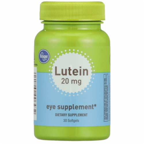 Kroger® Lutein Eye Supplement Softgels 20mg Perspective: front