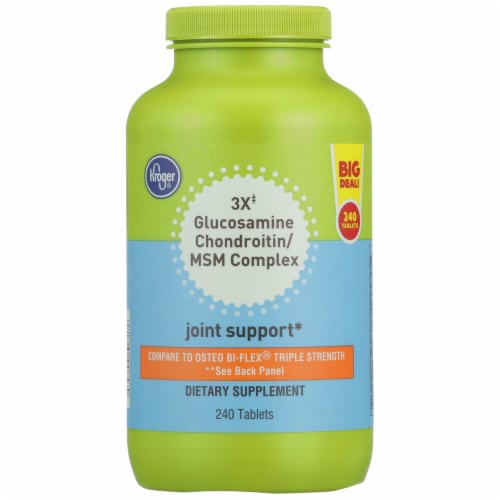 Kroger® 3x Glucosamine Chondroitin/MSM Complex Joint Support Dietary Supplement Tablets Perspective: front